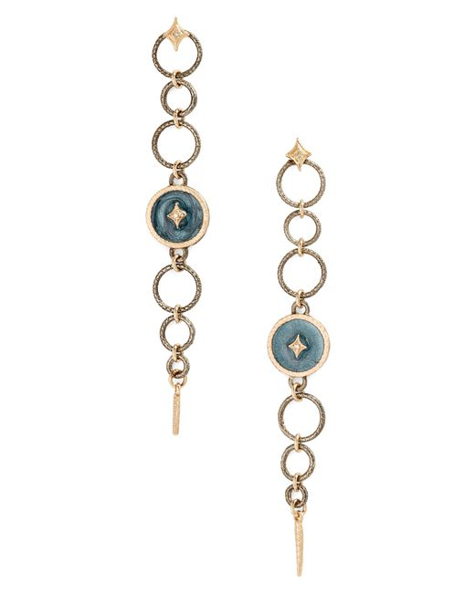 Armenta - Metallic New World Circles Enamel Drop Earrings - Lyst