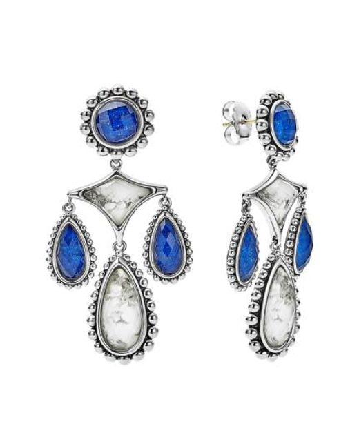 Lagos | Blue Maya Chandelier Earrings | Lyst