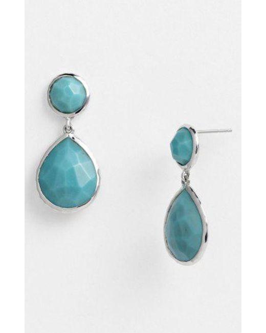 Ippolita - Blue 'rock Candy - Snowman' Drop Earrings - Lyst