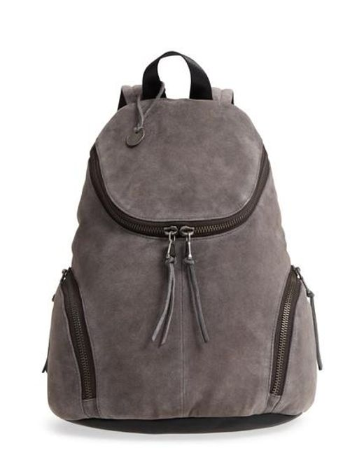 Lyst - John Varvatos Brooklyn Suede Backpack in Gray for Men cb7c36c2eb