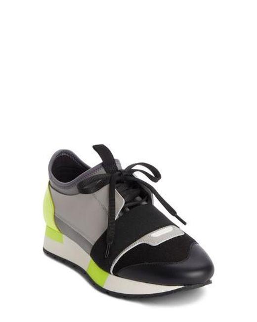 Balenciaga - Black Lace-up Sneaker - Lyst