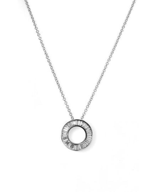 Bony Levy | White 'circle Of Life' Small Diamond Pendant Necklace (nordstrom Exclusive) | Lyst