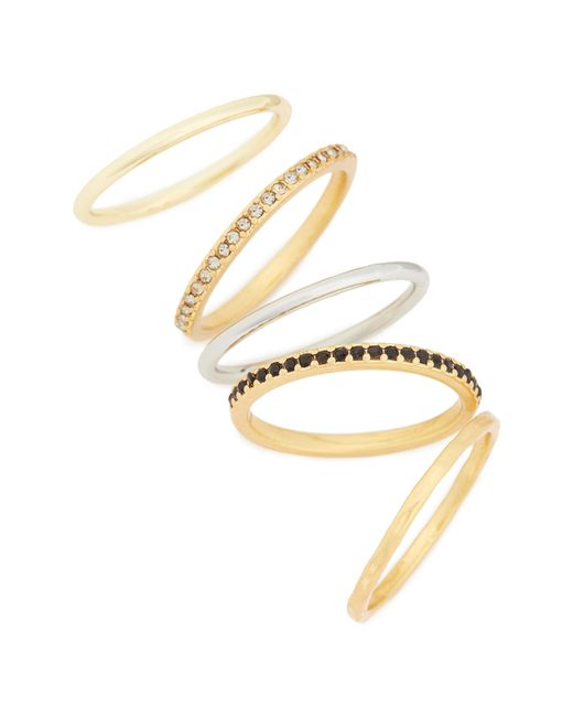 Madewell - Metallic Set Of 5 Filament Stackable Rings - Lyst