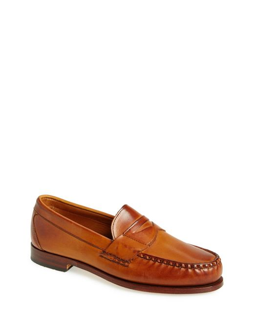 Allen Edmonds - Brown 'cavanaugh' Penny Loafer for Men - Lyst