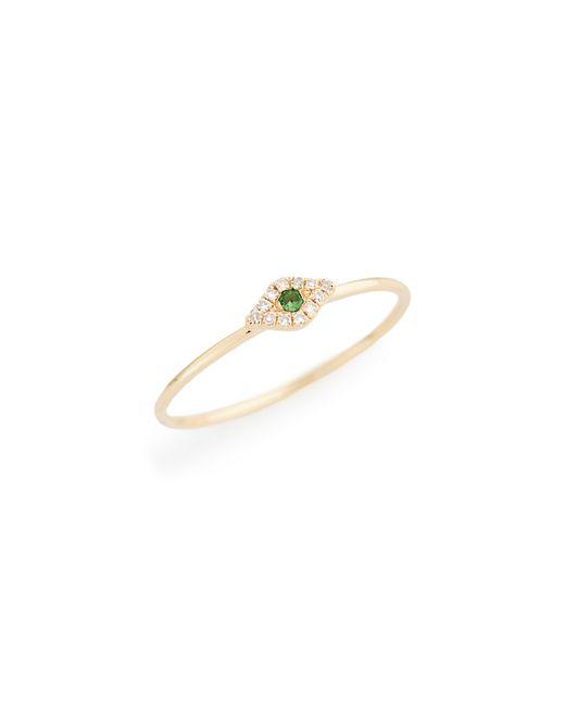 EF Collection - Metallic Evil Eye Diamond & Sapphire Stack Ring - Lyst