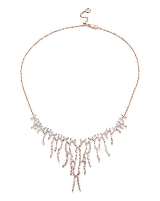 Monica Vinader - Metallic Riva Waterfall Cocktail Diamond Necklace - Lyst