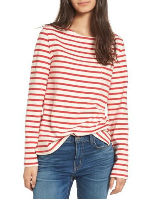 Amour Vert | Red Patrice Stripe Top | Lyst