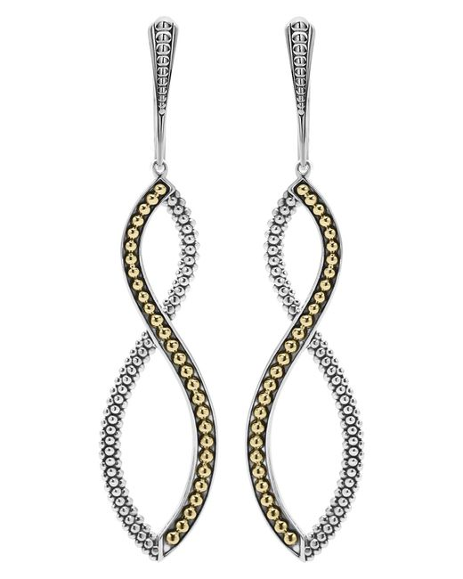 Lagos - Metallic Infinity Twist Drop Earrings - Lyst