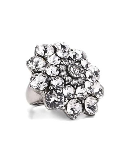 Oscar de la Renta | Metallic Swarovski Crystal Ring | Lyst