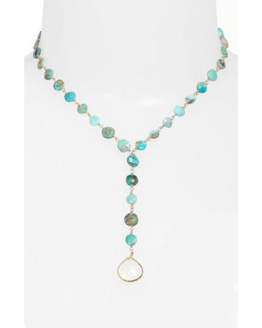 Ela Rae | Blue Yaeli Coin Necklace | Lyst