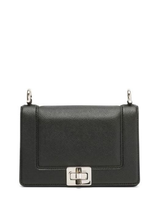 SERAPIAN MILANO | Black Mini Roberta Evolution Leather Crossbody Bag | Lyst