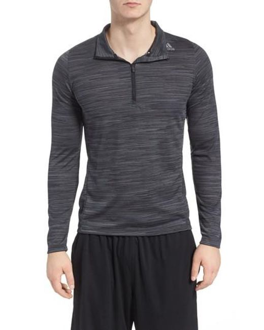 Adidas - Gray Ultimate Tech Quarter Zip Pullover for Men - Lyst