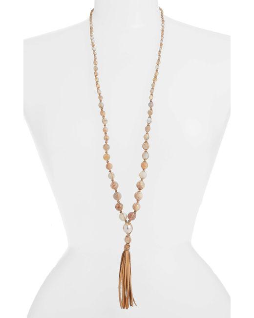 Chan Luu - Metallic Graduated Tassel Pendant Necklace - Lyst