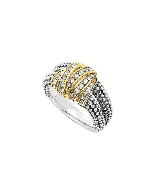 Lagos - Metallic 'diamonds & Caviar' Medium Diamond Ring - Lyst