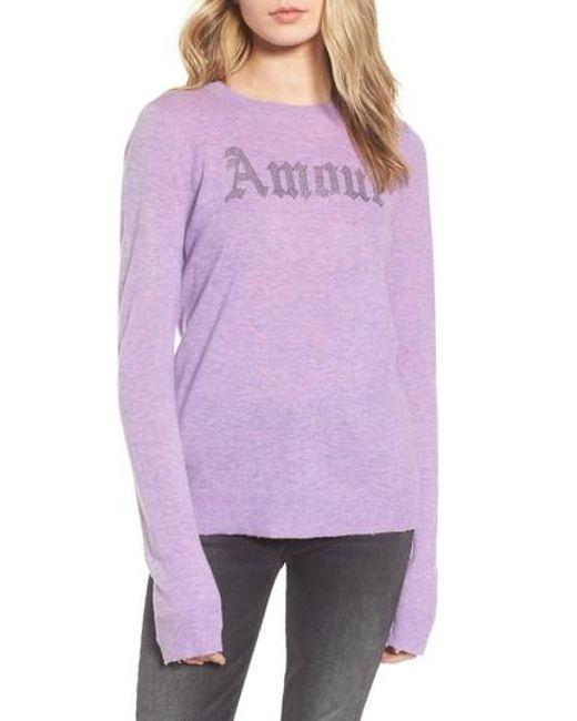 Zadig & Voltaire | Purple Miss Bis Cashmere Sweater | Lyst