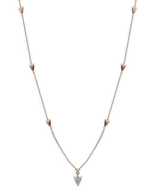 Kismet by Milka - Metallic Diamond Arrow Station Necklace - Lyst