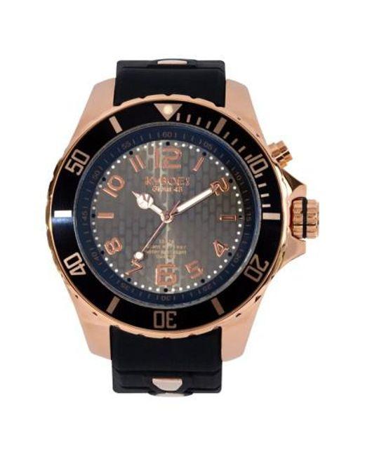 Kyboe | Metallic ! Silicone Strap Watch for Men | Lyst