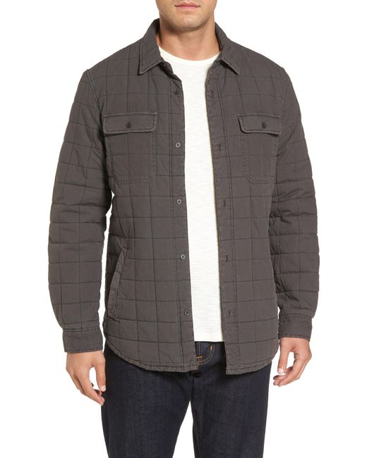 Ugg - Black Ugg Quilted Shirt Jacket for Men - Lyst