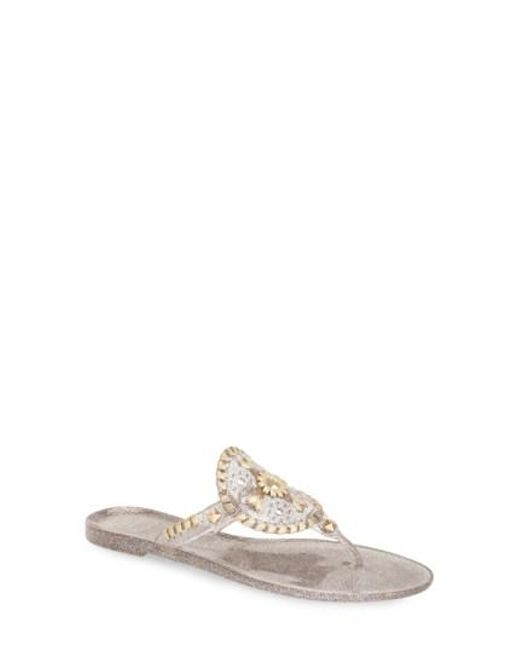 Jack Rogers - Multicolor 'georgica' Jelly Flip Flop - Lyst