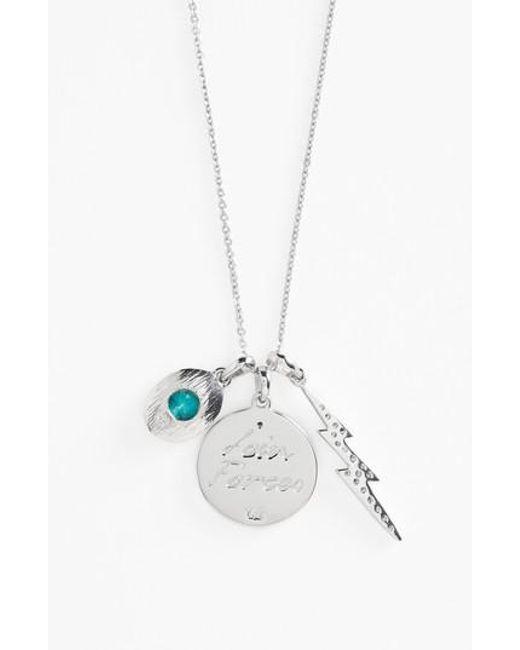 Melinda Maria | Metallic Goddess Sister Pendant Necklace | Lyst