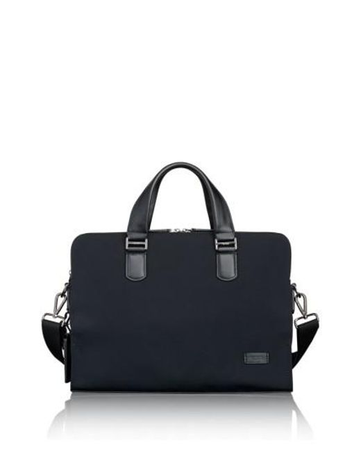 Tumi | Black Harrison Seneca Slim Briefcase | Lyst