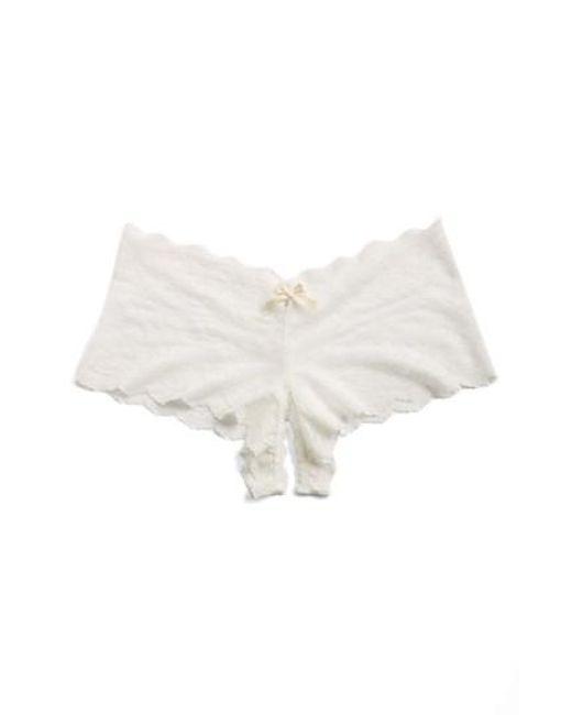 Hanky Panky | White Open Gusset Panty | Lyst