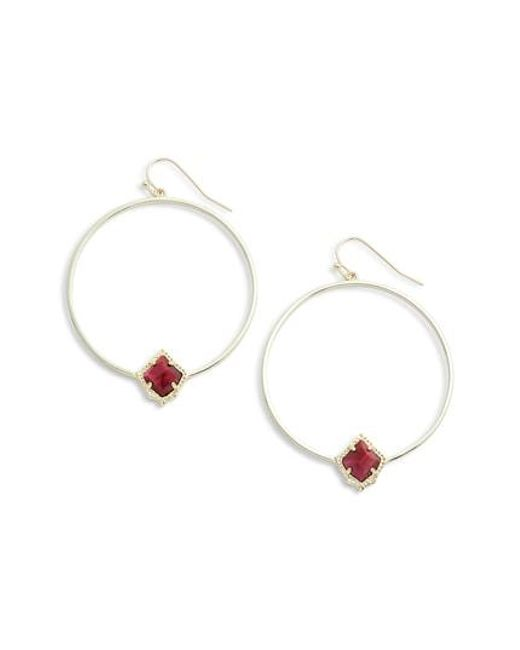 Kendra Scott - Metallic Elberta Hoop Earrings - Lyst