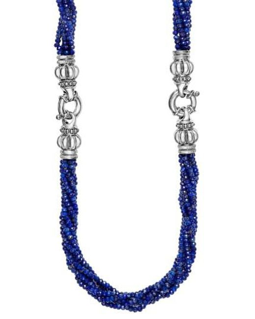 Lagos | Blue Caviar Icon Bead Convertible Bracelet & Necklace | Lyst