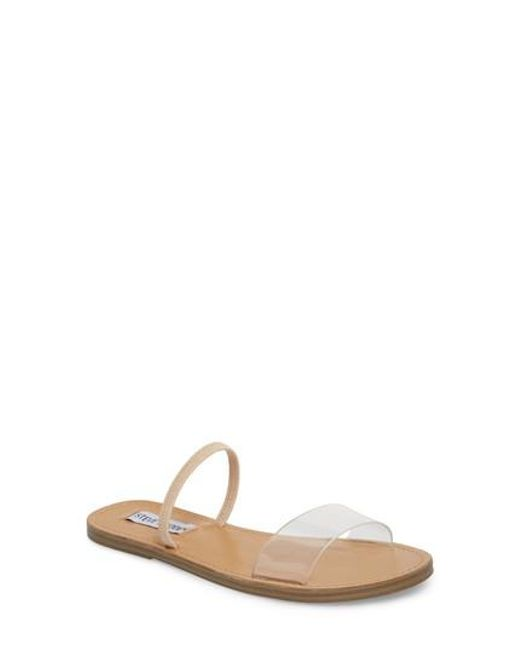 Steve Madden Truesdale Slide(Women's) -Black Suede Discount Reliable Get To Buy Online Fast Shipping Big Sale Cheap Online Buy Cheap Wide Range Of HUa3i9L