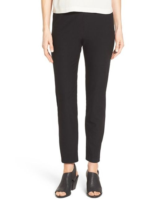 Eileen Fisher | White Slim Ankle Pants | Lyst