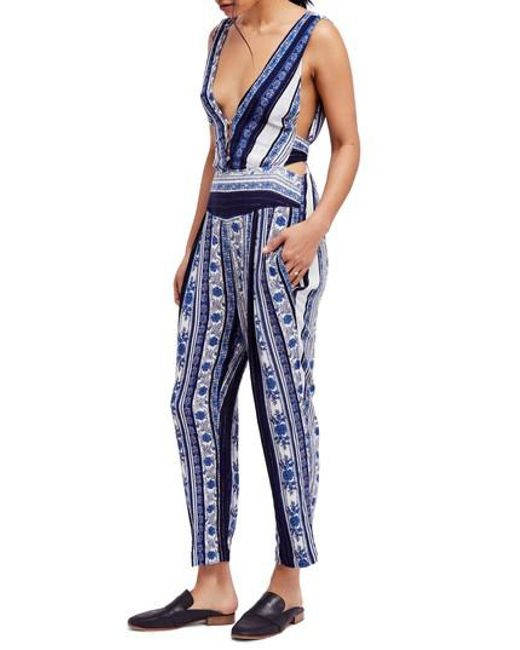 Free People - Blue All Shook Up Jumpsuit - Lyst