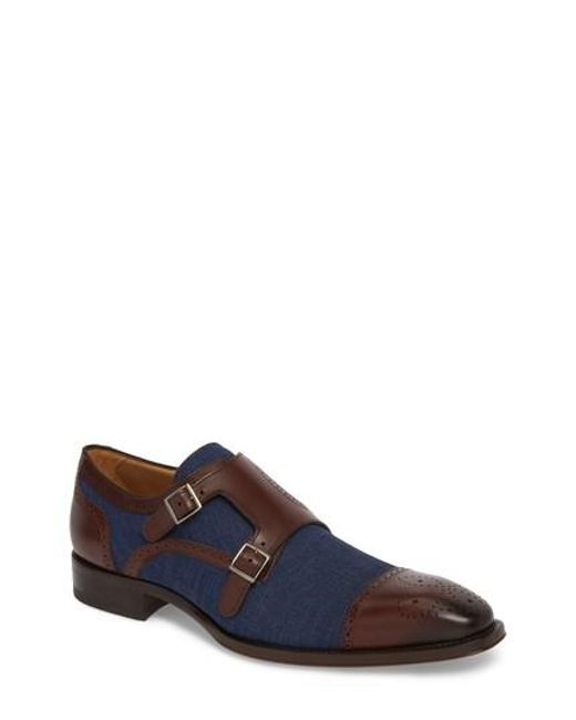 Mezlan - Brown Cupido Double Monk Strap Cap Toe Shoe for Men - Lyst