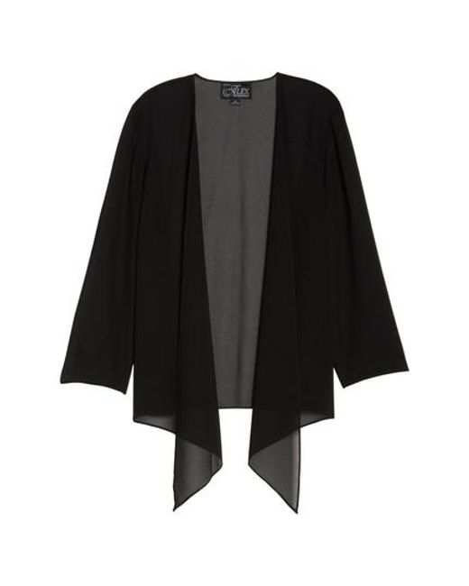 Alex Evenings | Black Georgette Open Jacket | Lyst