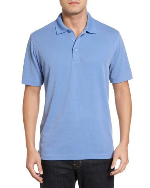 Bugatchi | Blue Textured Jersey Polo for Men | Lyst