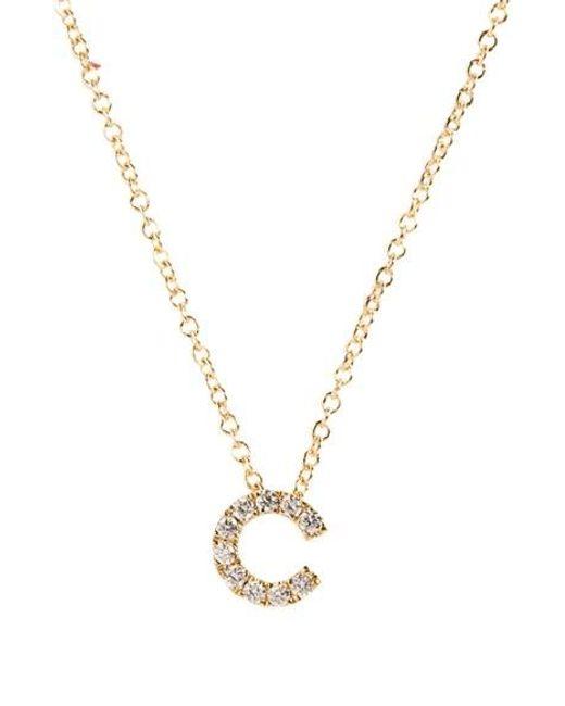 Bony Levy | Metallic Pave Diamond Initial Pendant Necklace (nordstrom Exclusive) | Lyst