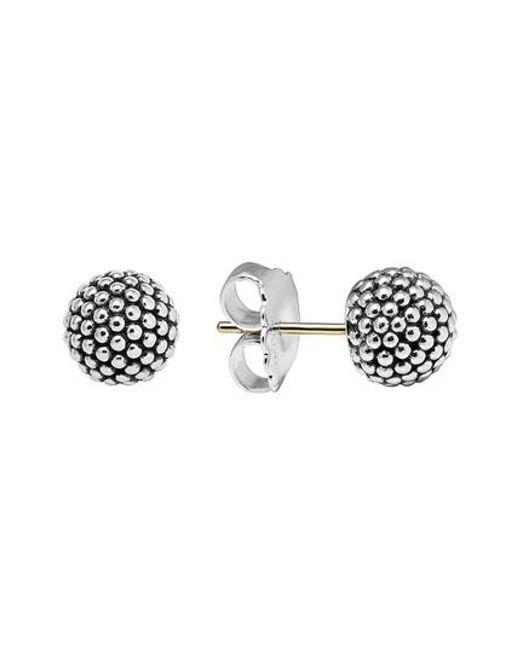 Lagos | Metallic 'columbus Circle' Ball Stud Earrings | Lyst