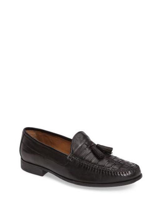 Johnston & Murphy | Black Cresswell Woven Tassel Loafer for Men | Lyst