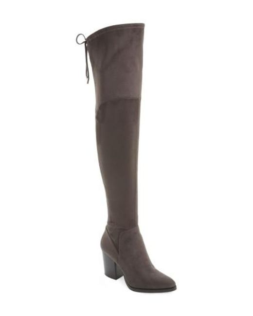 Marc Fisher - Gray Adora Over The Knee Boot - Lyst