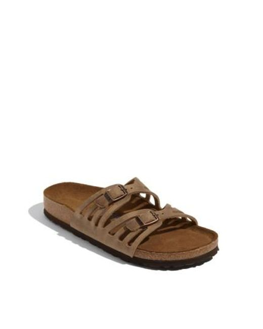 Birkenstock   Brown Granada Soft Footbed Oiled Leather Sandal   Lyst