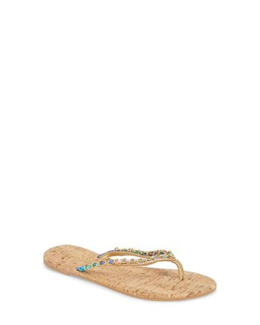 Lilly Pulitzer Women's Lily Pulitzer Naples Chain Trimmed Flip Flop