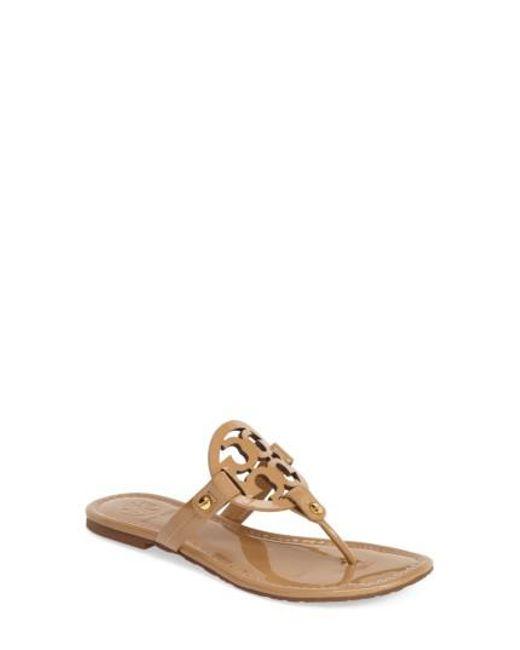 Tory Burch - Natural Miller Thong Sandals - Lyst