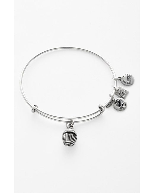 ALEX AND ANI - Metallic 'charity By Design - Cupcake' Expandable Wire Bangle - Lyst