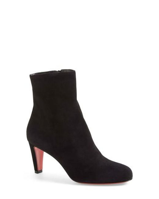 Christian Louboutin - Black 'top' Ankle Bootie - Lyst