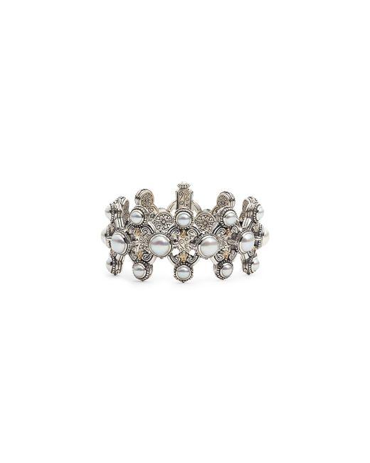 Konstantino - Metallic Thalia Pearl Cuff Bracelet - Lyst
