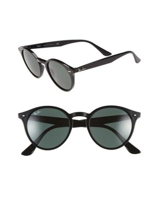 Ray-Ban | Black Highstreet 49mm Round Sunglasses | Lyst