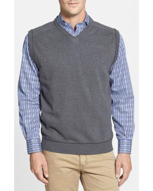 Cutter & Buck | Gray 'broadview' V-neck Sweater Vest for Men | Lyst