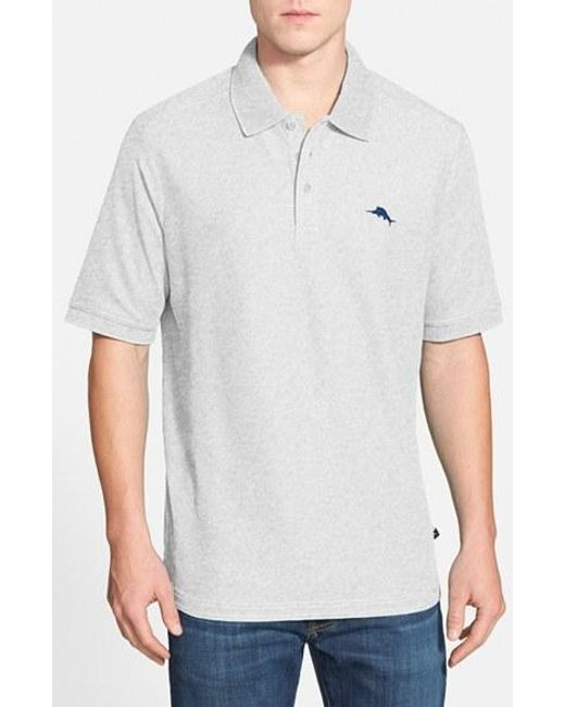 Tommy Bahama | Gray 'the Emfielder' Pique Polo for Men | Lyst