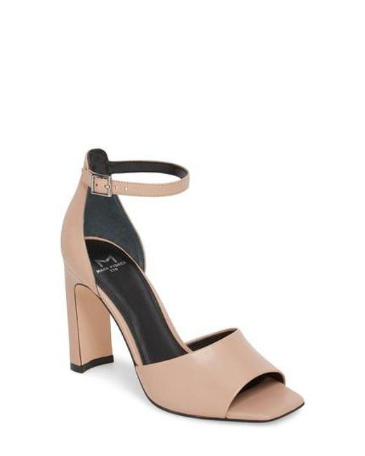 MARC FISHER Women's Harlin Leather High-Heel Ankle Strap Sandals LeERvJrt