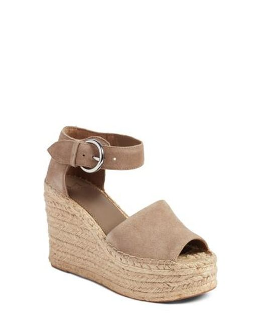 Marc Fisher | Brown Alida Espadrille Platform Wedge | Lyst