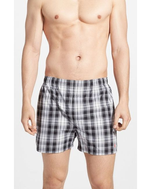 Polo Ralph Lauren | 3-pack Woven Cotton Boxers, Black for Men | Lyst